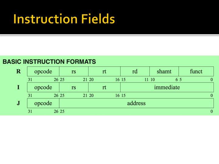 Instruction Fields