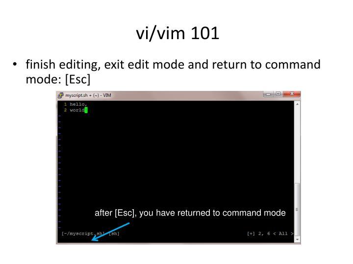 vi/vim 101