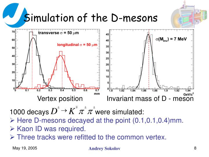 Simulation of the D-mesons