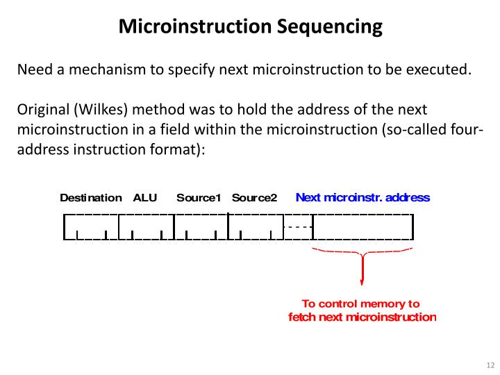Microinstruction Sequencing