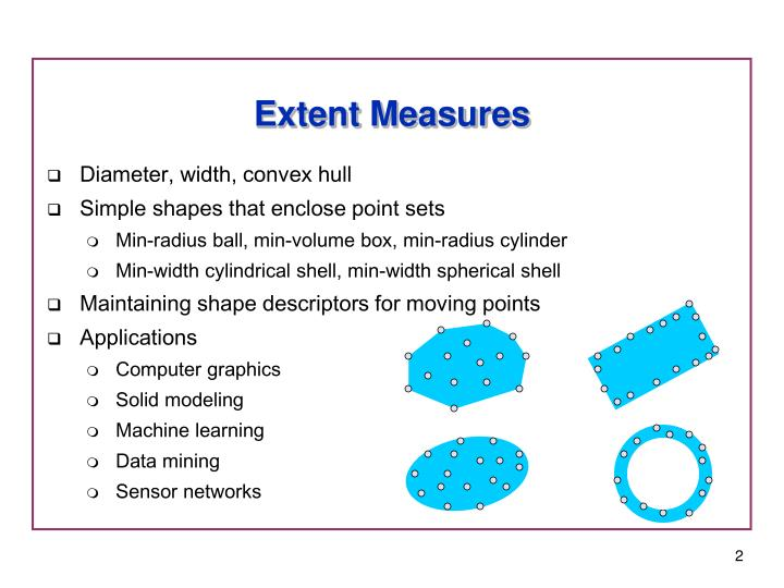 Extent Measures