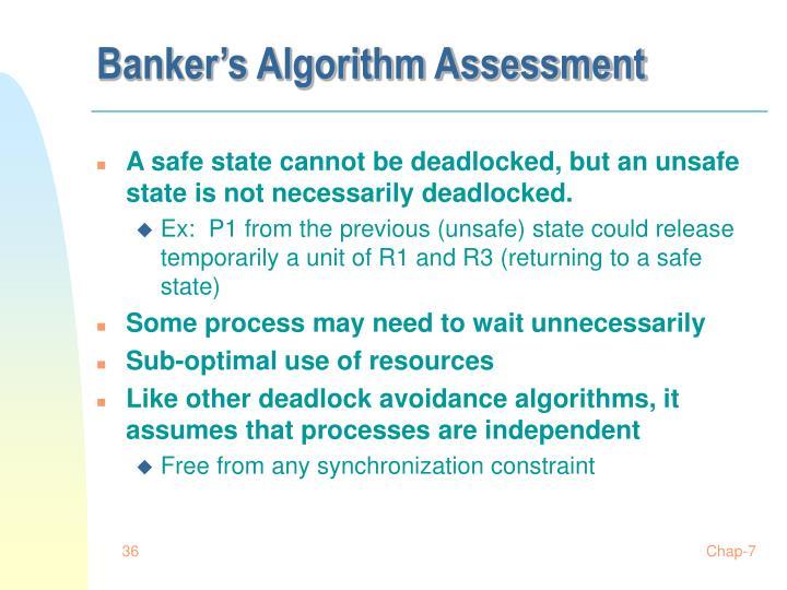 Banker's Algorithm Assessment