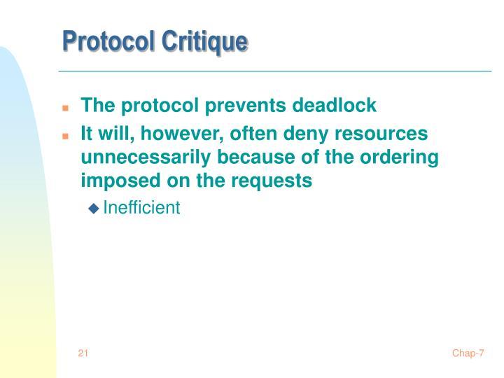 Protocol Critique