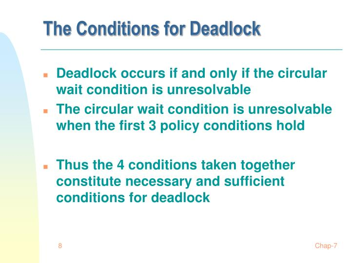 The Conditions for Deadlock