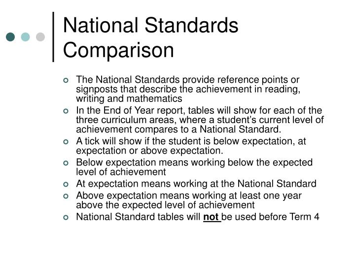 National Standards Comparison