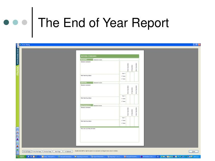 The End of Year Report