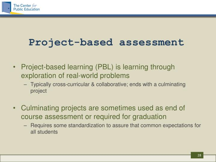 Project-based assessment