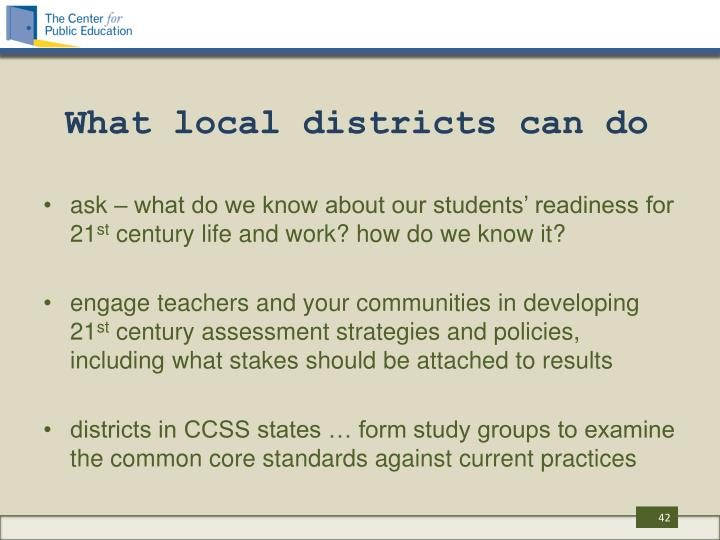 What local districts can do