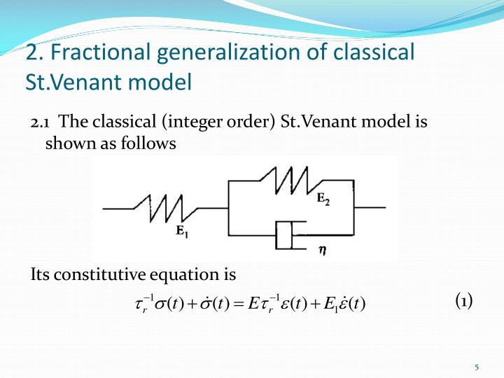 2. Fractional generalization of classical