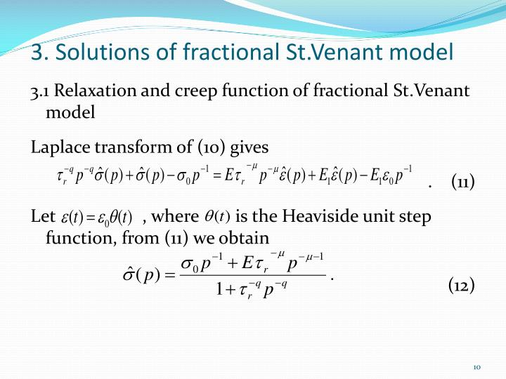 3. Solutions of fractional