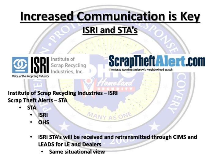 Increased Communication is Key