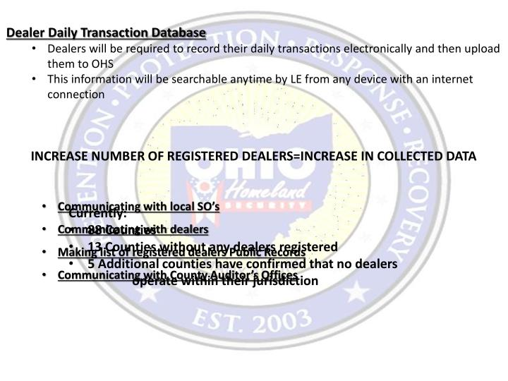 Dealer Daily Transaction Database