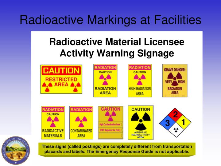 Radioactive Markings at Facilities