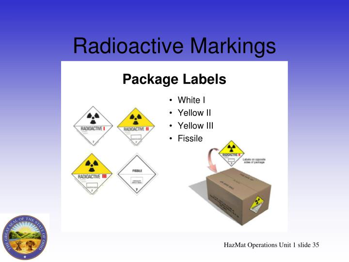 Radioactive Markings