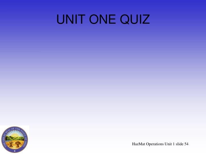 UNIT ONE QUIZ