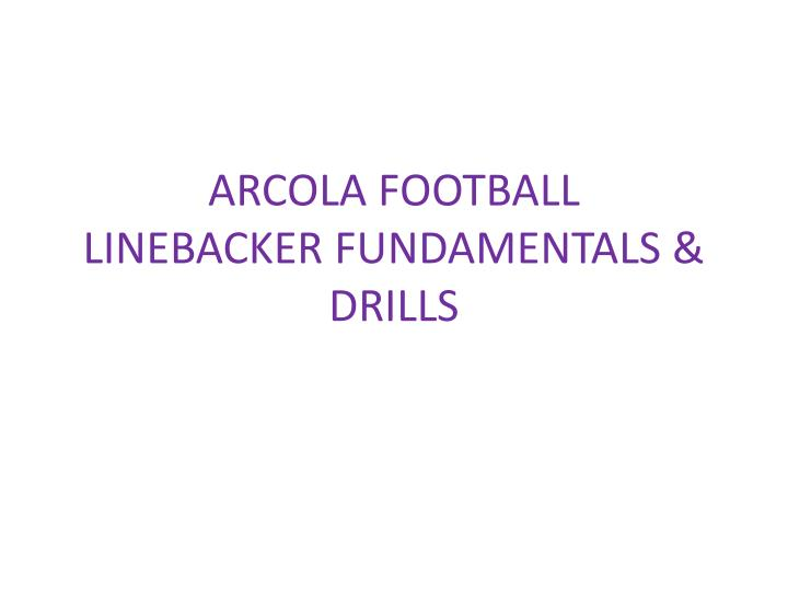 ARCOLA FOOTBALL