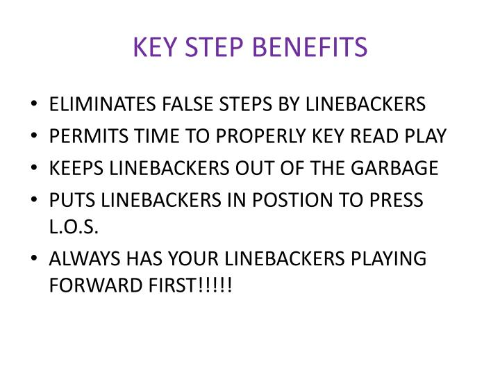 KEY STEP BENEFITS