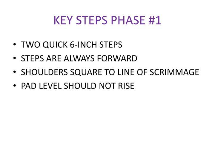 KEY STEPS PHASE #1