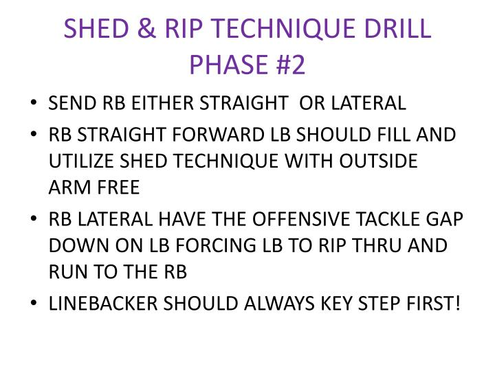 SHED & RIP TECHNIQUE DRILL