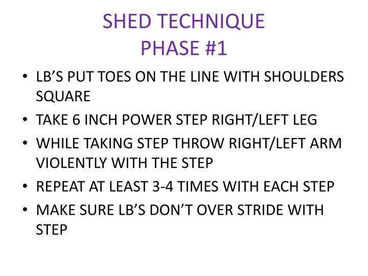 SHED TECHNIQUE