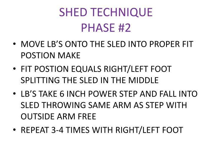 SHED TECHNIQUE