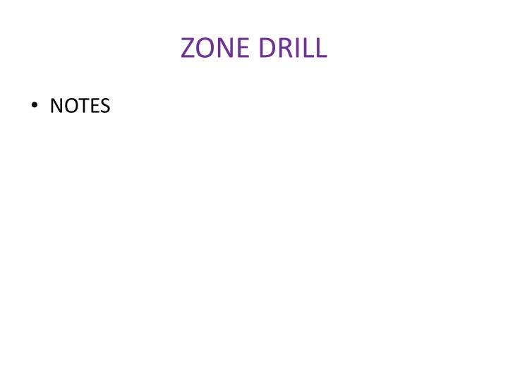 ZONE DRILL