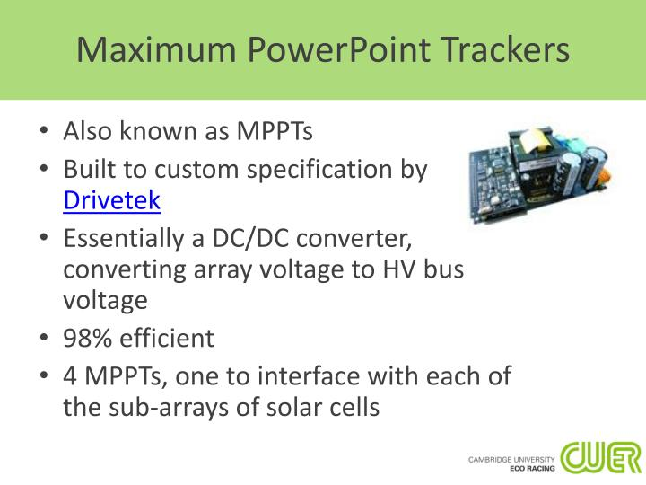Maximum PowerPoint Trackers