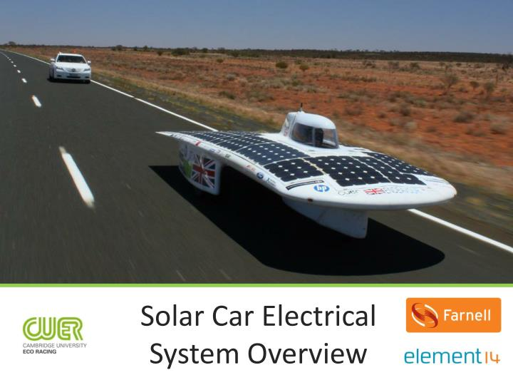 Solar car electrical system overview