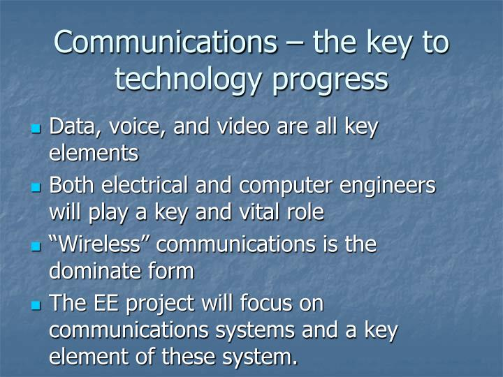 Communications – the key to technology progress