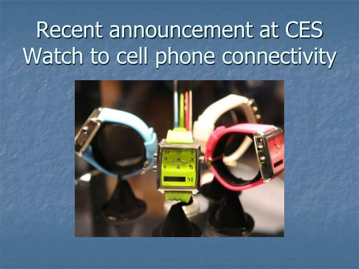 Recent announcement at CES