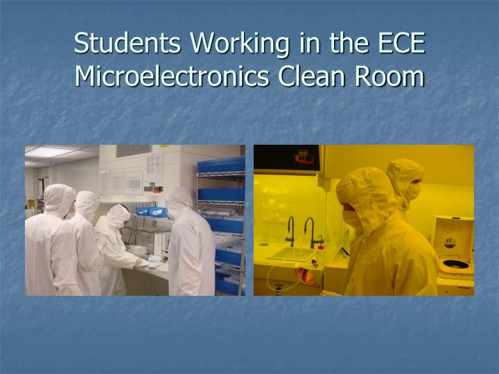 Students Working in the ECE Microelectronics Clean Room
