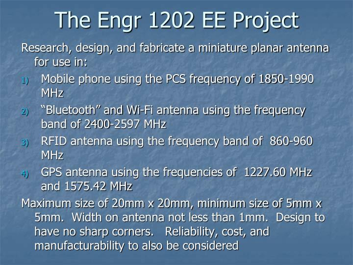 The Engr 1202 EE Project