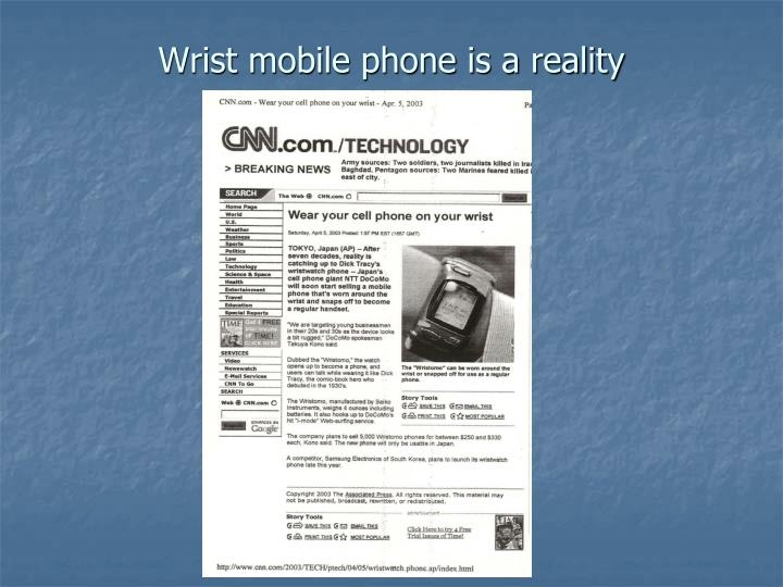 Wrist mobile phone is a reality