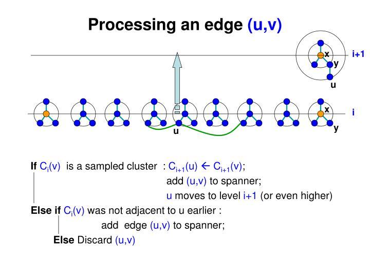 Processing an edge