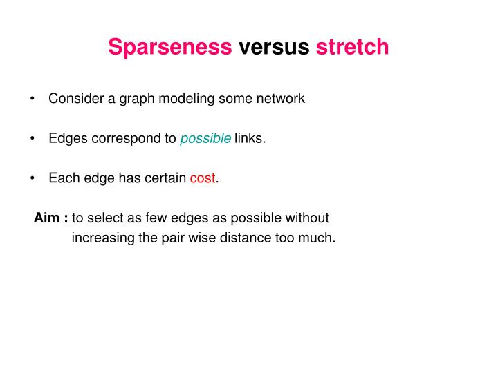 Sparseness