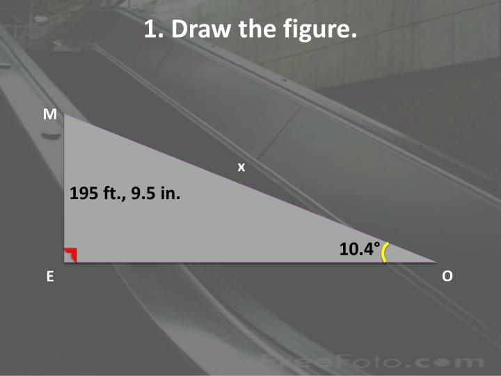 1. Draw the figure.