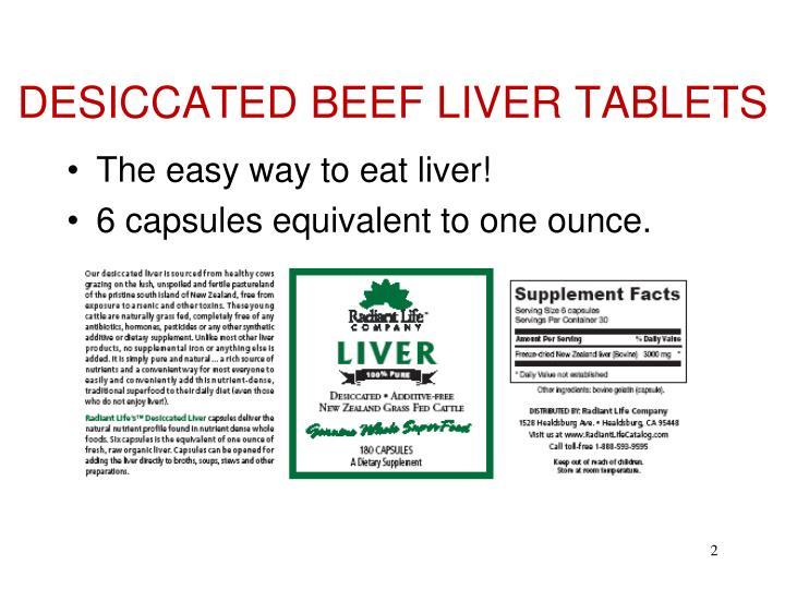 DESICCATED BEEF LIVER TABLETS