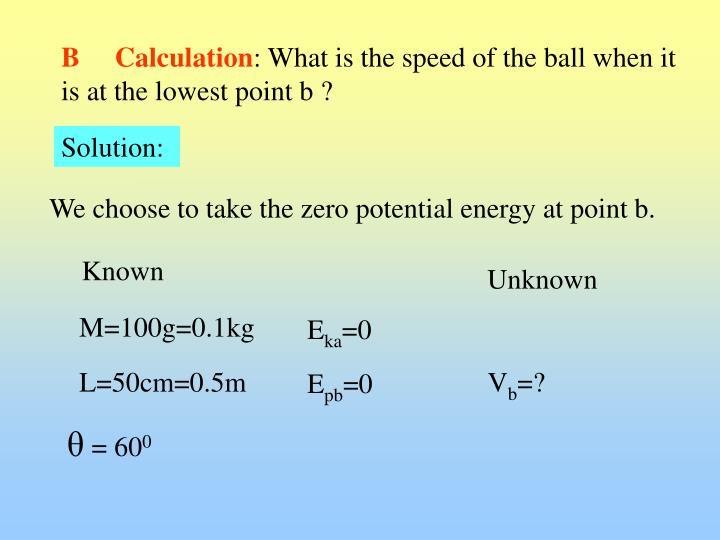 B     Calculation