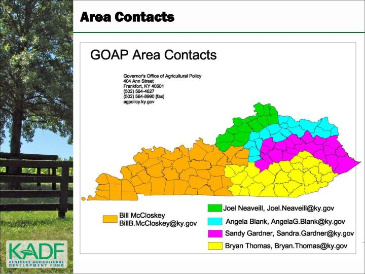 Area Contacts