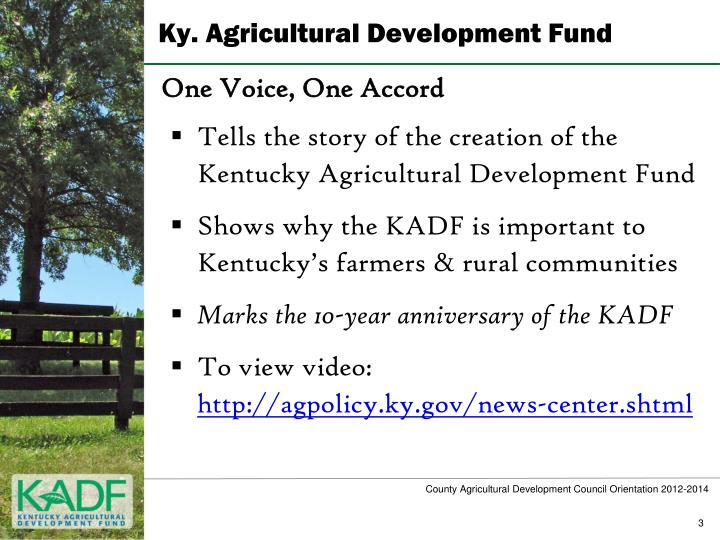 Ky agricultural development fund1