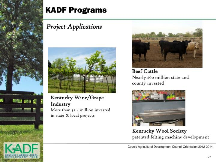 KADF Programs