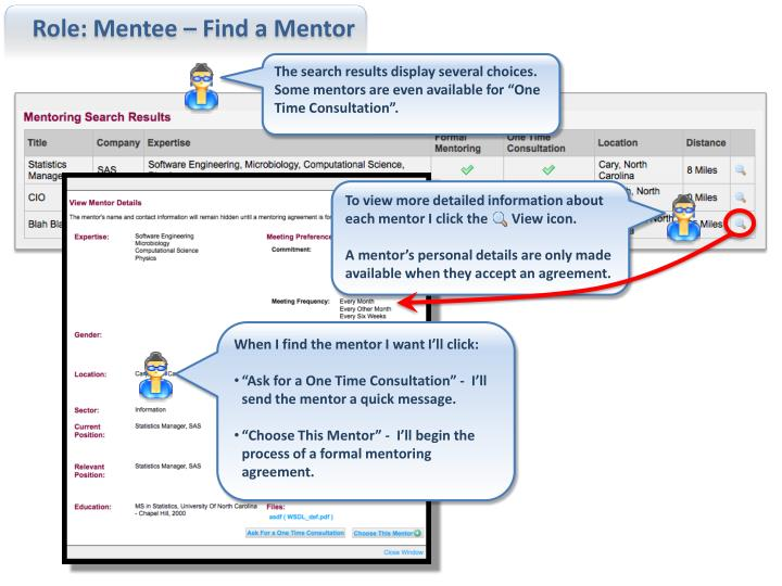 Role: Mentee – Find a Mentor