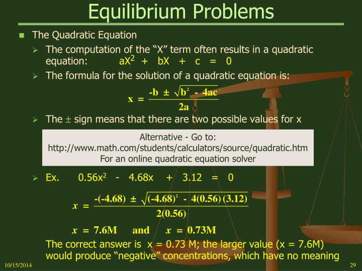 Equilibrium Problems