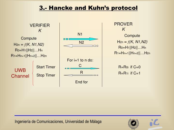3.- Hancke and Kuhn's protocol