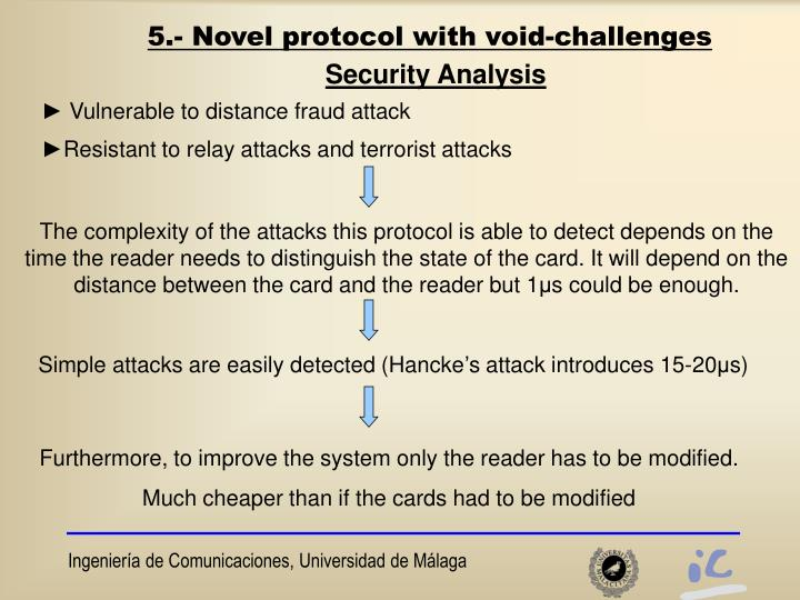 5.- Novel protocol with void-challenges
