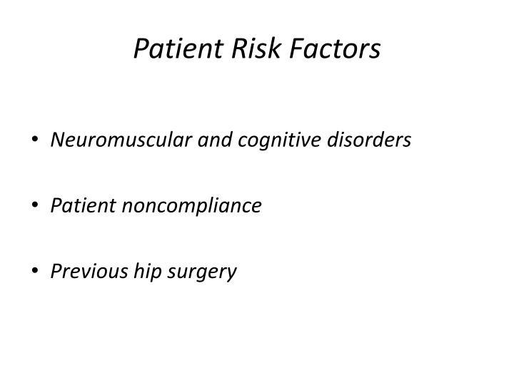 Patient Risk