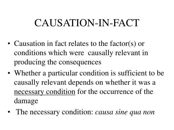 CAUSATION-IN-FACT
