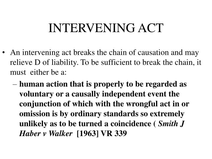 INTERVENING ACT