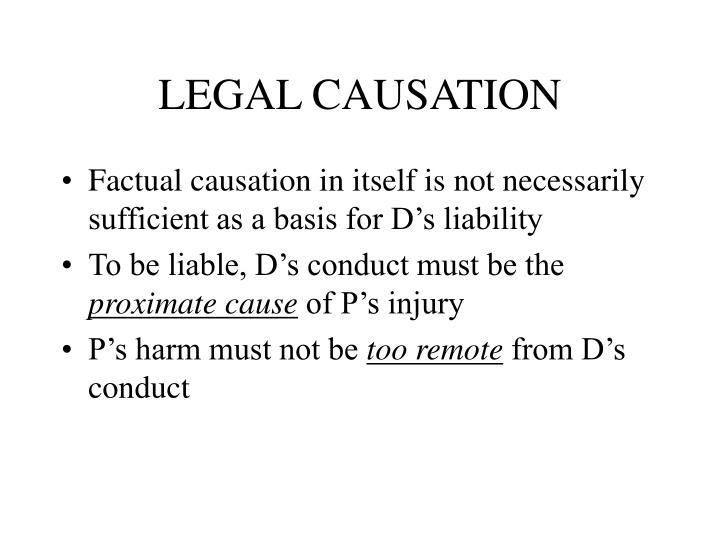 LEGAL CAUSATION