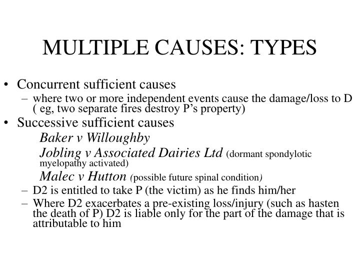 MULTIPLE CAUSES: TYPES